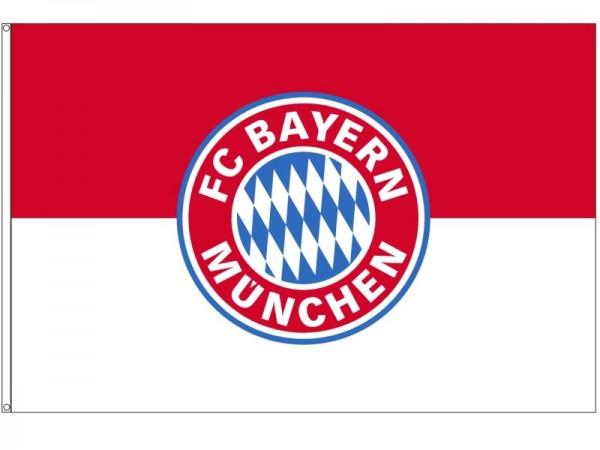 FC Bayern Fahne Originalware Flagge 100 x 150 cm Motiv LOGO + Ösen Service Nr. 828Ö