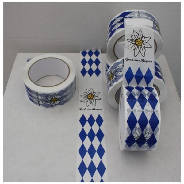 Paketklebeband Gruß aus Bayern Raute mit Edelweiß Nr. 1164
