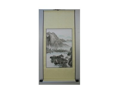 Feng Suhi Rollbildfahne Landschaft + Wasserfall Nr. 62093