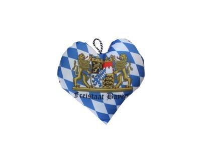 Herz Kissen Freistaat Bayern mit Kordel Nr. 1753