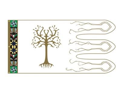 Herr der Ringe Boromir Flagge 90 x 180 cm Nr. 3004