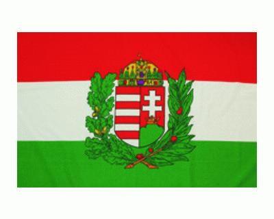 Ungarn Nationalfahne mit Wappen Nr. 1588