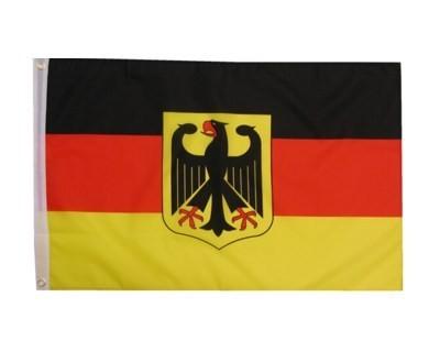 Deutschland mit Adler Fahne 90 x 150 cm Nr. 7