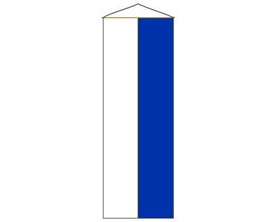 Bayerische Bannerfahne weiß-blau 90 x 200 cm Nr. 2144