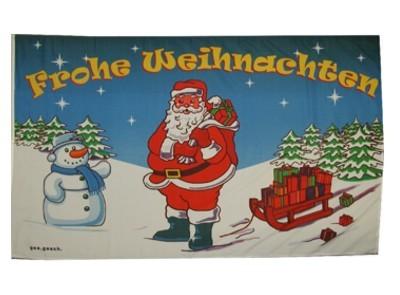 Frohe Weihnachten Fahne 90 x 150 cm Nr. 2404