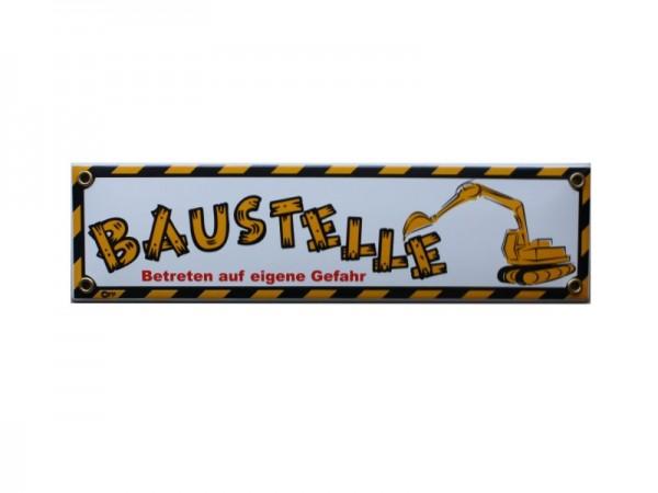 Baustelle Emaille Straßenschild Nr. 1726