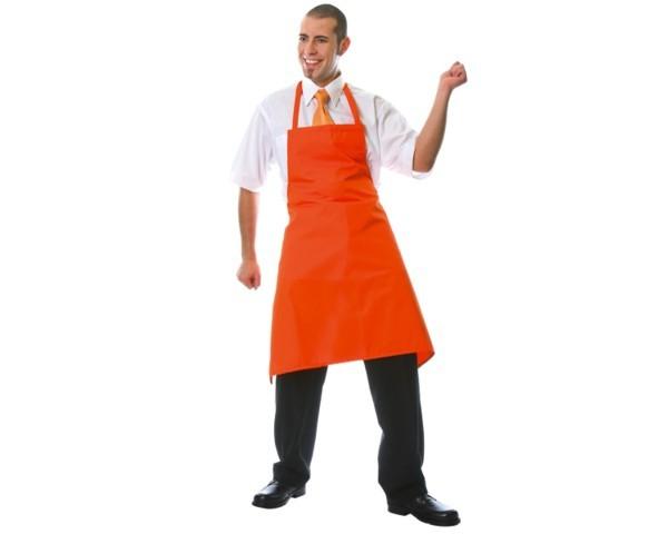 "Latzschürze ""Kreta"" 95x75cm Farbe orange Nr. 3230"