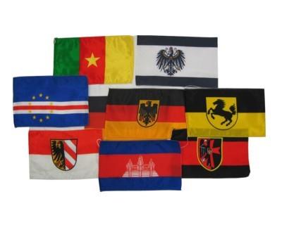 Tischflagge Atlasseide mit Kordel 15 x 25 cm Nr. 2334