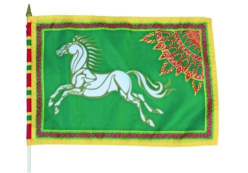 Herr der Ringe Rohan Stockflagge Grün Nr. 3027