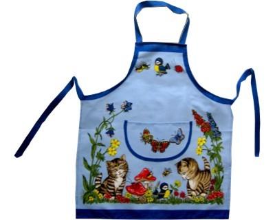Schürze Kinder Katzen auf Wiese Nr. 2605