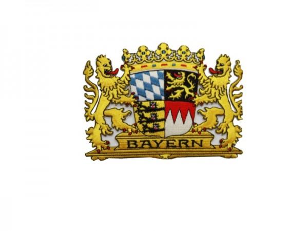 Bayerisches Löwen Wappen gestickt Nr. 1870