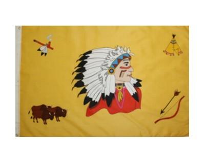 Kinderflagge - Indianer Nr. 1849