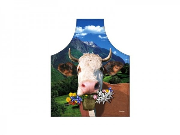 Schürze Kuh mit Blumen Nr. 2499