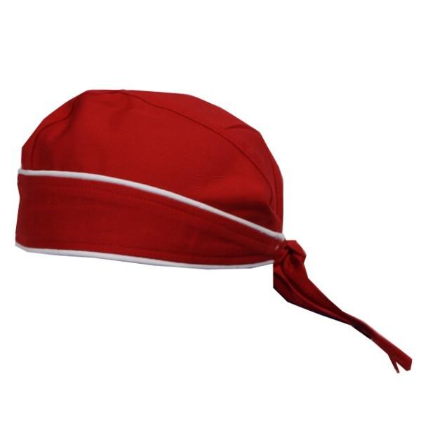 Bandana Farbe Rot mit Kontrastpaspel Nr. 2798B