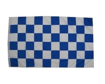 Karoflagge Blau - Weiß Nr. 2357