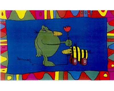 Tigerente mit Kastenfrosch Flagge Nr. 885