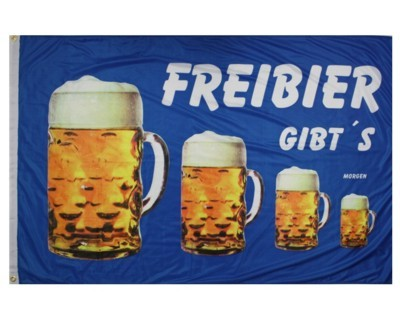 """Bier Fahne """"FREIBIER gibt's morgen """" Nr. 1676"""