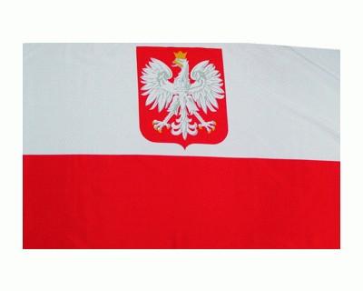 Polen mit Wappen Fahne 90 x 150 cm Nr. 728
