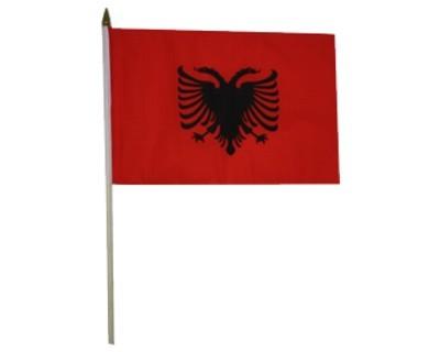 Albanien Nationalfahne mit Wappen Nr. 2804
