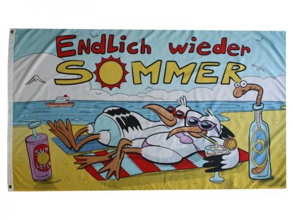 Endlich wieder Sommer Flagge Nr. 3584