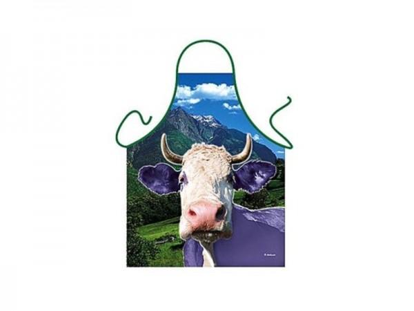 Schürze lila Kuh Nr. 2497