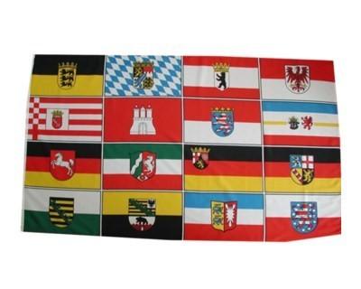 Deutschland mit 16 Bundesländer Wappen Nr. 718