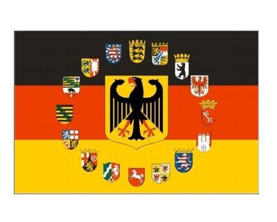 Deutschland mit 16 Bundesländer Wappen Nr. 1963