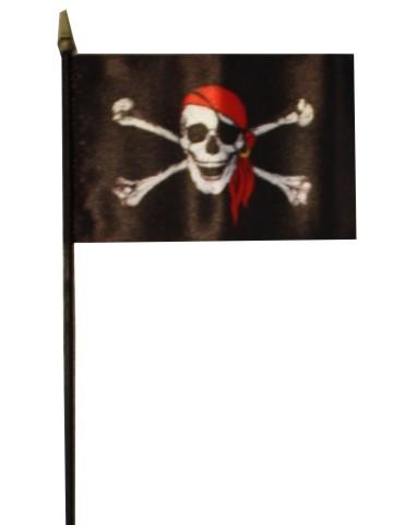 Pirat mit rotem Kopftuch Tischflagge Nr. 2905