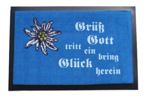 Fußmatte Grüß Gott mit Edelweiß Nr.1911