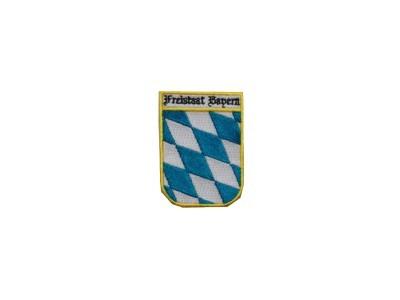Freistaat Bayern Raute Wappen gestickt Nr. 1872