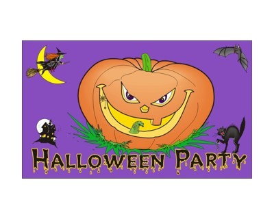 Halloween Party Flagge 90 x 160 cm Nr. 5566
