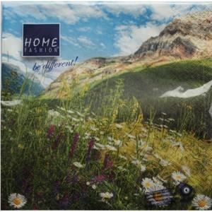 Servietten Berg Blumen Wiese 33 x 33 cm Nr. 170211