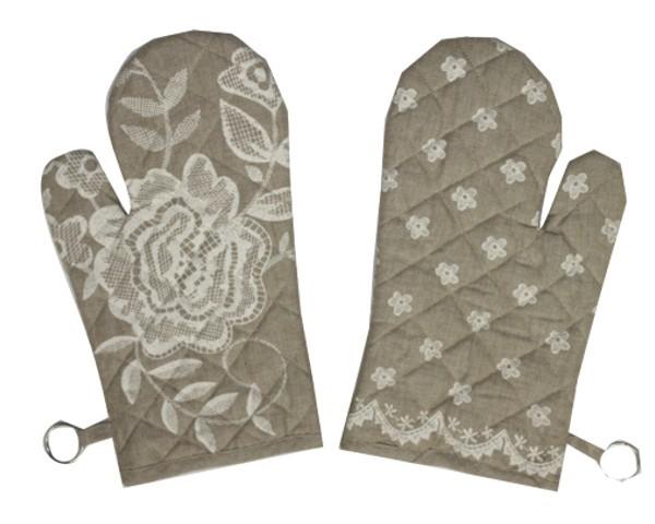 Ofenhandschuh Serie Blumen Spitzen Nr. 3060A