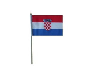 Kroatien Nationalfahne mit Wappen Nr. 2155