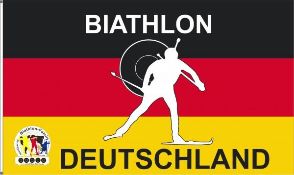 Biathlon Fahne Deutschland mit Ösen 90 x 150 cm Nr. 2756