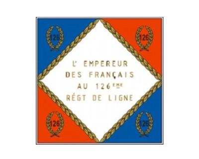 Standarte Frankreich 126. Linien-Infanterie-Regiment Nr. 3098
