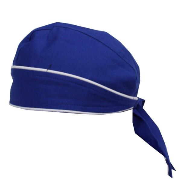 Bandana Farbe Königsblau mit Kontrastpaspel Nr. 2796B