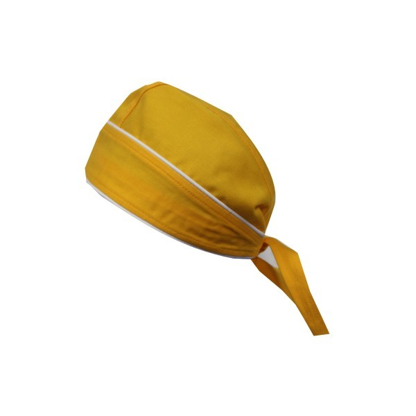 Bandana Farbe Gelb mit Kontrastpaspel Nr. 3100B