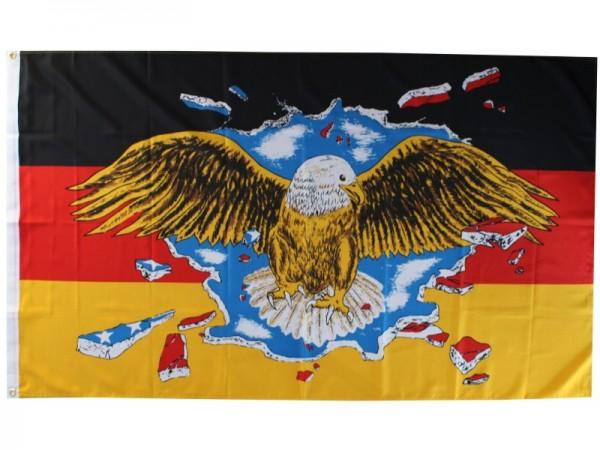 Deutschland Fahne mit Fliegendem Adler Nr. 1962