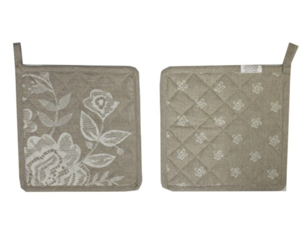 Topflappen Serie Blumen Spitzen Nr. 3060B