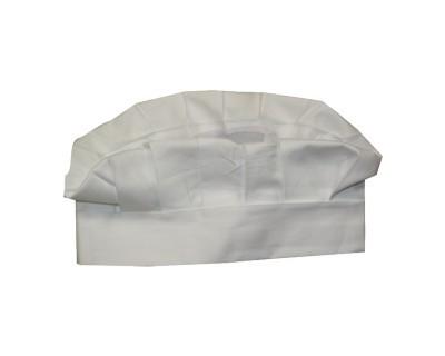 Kochmütze halbhoch Farbe Weiß Nr. 1198