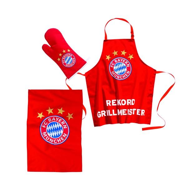 FC Bayern Rekord Grillmeister 3-tlg. Grillset Nr. 2129